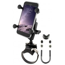 Strap Clamp, Roll Bar Mount with Universal X-Grip® Cell/iPhone Holder